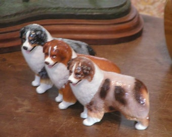 Australian Shepherd Dog Figurine
