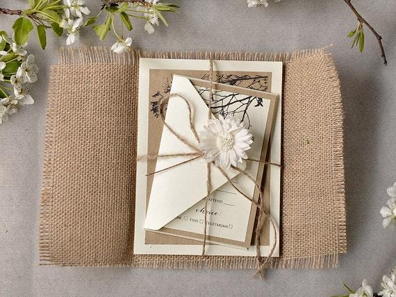 Benutzerdefinierte Liste (100) rustikal Hochzeitseinladung, Recycling ...