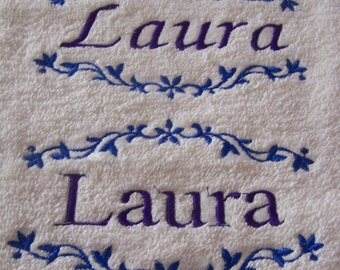 Personalised embroidered  bath towel with your name(100% cotton)