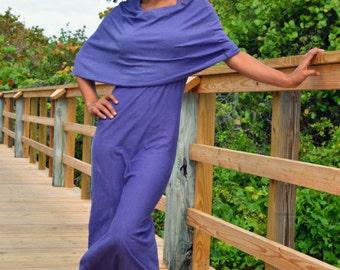 Cowlicious Organic Maxi Dress. Sustainable organic hemp custom made clothing by Grateful Threads Asheville. Handmade. Conscious. Bespoke.