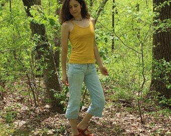 hemp clothing for women - camisole / strap shirt - 100% hemp and organic cotton - custom made to order - hand dyed