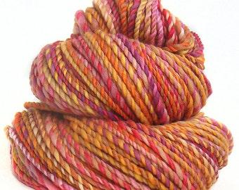 handdyed handspun superwash Merino wool  yarn