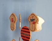 Baby Mobile - Baseball Mobile - Wooden Baby Mobile for Baseball Themed Nursery