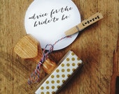 Advice for the Bride to Be - bachelorette partY or bridal shower activity