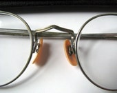 Vintage - Glasses - Round - Silver Frame - Flexible Ear - World War II
