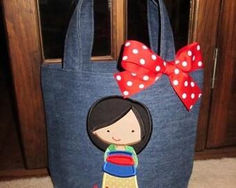 TOTE BAG Disney Princess Mulan Personalized Toddler or Big Kid Tote