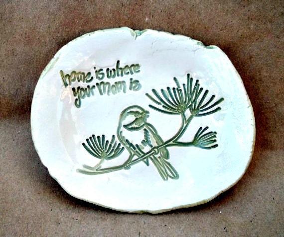 For Mom Bird Hand Trinket Dish