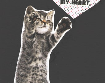 Quit Playing Games With My Heart CAT ART PRINT