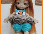 Owl Romper Outfit Boots and Headband Crochet Pattern  A RufflyRags Design by Peggytoes