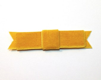 Mustard Yellow Velvet Bow Hair Clip.SALE.Velvet Bow Fascinator.Mustard.gold.Yellow.Classic Bow.Headpiece.Bridesmaid.Fascinator.CLEARANCE