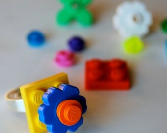 Play Day Lego Ring in Yellow: Build Your Own LEGO Jewelry