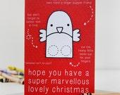 Robin Finger Puppet Christmas Card