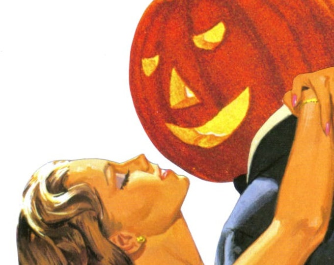 Funny Halloween Love, Jack o Lantern Pumpkin Artwork