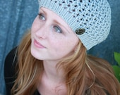Knit Hat, Lace Hat, Beret, Tam, Slouch, Merino Wool, Gift for Her, Women's Gift