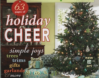 Mary Engelbreit's Home Companion Dec/Jan 2009 Holiday Magazine Trees Trim Gifts Garlands Stocking Stuffers