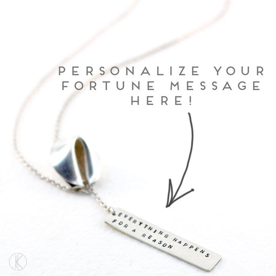 personalize your fortune - fortune cookie lariat with fortune message in front