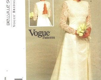 Vogue 1535 BELLVILLE SASSOON Bridal Original Open Back