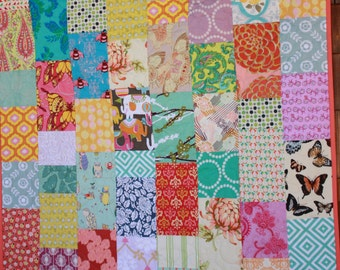 Custom Baby Quilt, Crib Bedding, Features Cute Cotton Fabrics in Your Chosen Colors. Perfect Baby Shower Gift. Add matching Bunting.