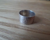 Super Simple Modernist Silver Ring -  Tiny