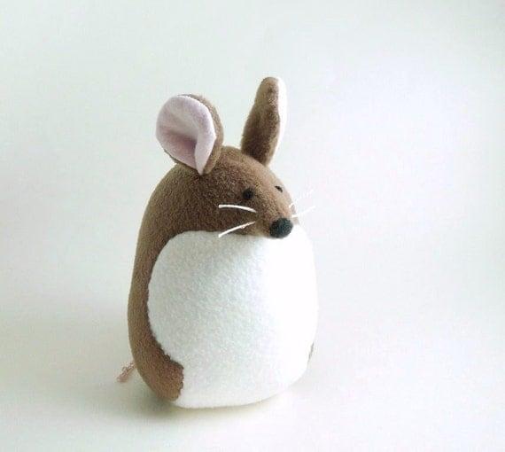 Big Brown Mouse Stuffed Animal Kids Handmade Plush Toy READY TO SHIP