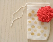 fabric pom-pom pin // berry pink