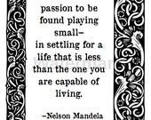 Mandela, Printable Quote Card.