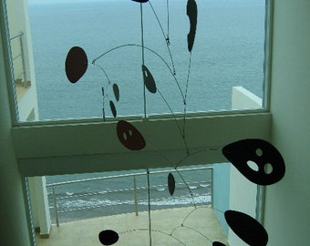 XX Large Modern Art Hanging Mobile Megamo Kinetic Sculpture Skylight Calder Styled Decor