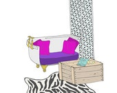 Holly Golightly's Apartment Decorative Illustration Art Print
