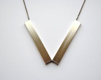 Silver Angle Necklace - FREE US Shipping
