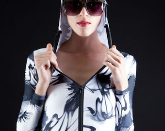Rorschach Ink Blot Black and White Bodysuit To Wear to your Next Therapy Session