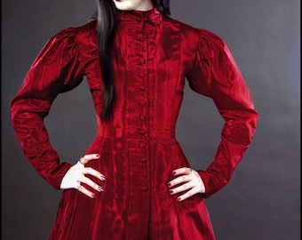 Blood Countess - Bright Red Isabella Coatdress by Kambriel - Brand New & Ready to Ship!
