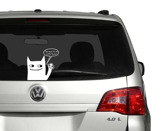 Weird and Funny Cat Vinyl Decal Sticker - Wall . Laptop . Car . Window . Mirror - Scarface: Say Hello To My Little Friend