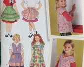 Simplicity Child's Apron Sewing Pattern sizes 3 through 8