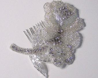 Closeout - Crystal Rhinestone Wedding Hair Comb Bridal Accessory