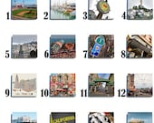 SALE! San Francisco Stone Coaster Tile Set - Pick any Four images - Over 60 to choose from!!