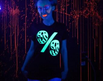 99 Percent Glow in the Dark Ladies Tees Size S M L & XL