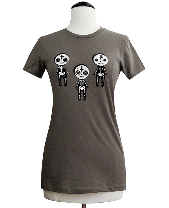 Day of the Dead T-Shirt - Dead Kewpie Shirt - Ladies Size S - CLEARANCE