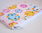 Happy Flowers on Pink Cute Coin Purse