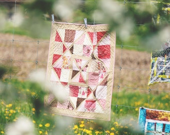 Heirloom Patchwork Quilt Hugs and Kisses Quilted Heirloom