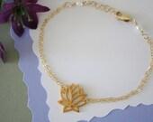 Gold Lotus Bracelet,  Gold Bracelet, Yoga Bracelet, Lotus Flower, Gold Yoga Bracelet, Karma