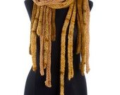 COBWEBS -  handknit shawl scarf  poncho wrap - in gold - Made to order in two weeks