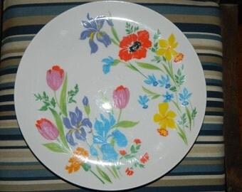 Vintage Primavera Taste Setter by Sigma Dinner Plate, Porcelain, Made in Japan 480, Floral, Colorful flowers