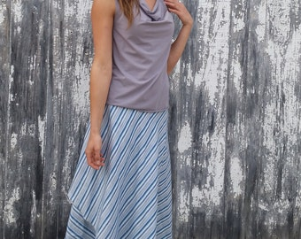 Lena ~ Drape Neck Tank Top ~ Bamboo & Organic Cotton ~ Made to Order