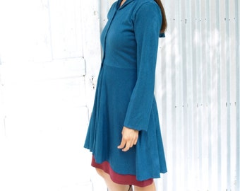 Violet ~ Dress Coat ~ Hemp & Organic Cotton ~ Made to Order