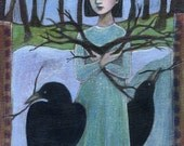 Greeting Card: Pick Up Sticks, crows, woods, nests