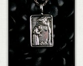 Vintage Sterling Silver Saint Francis of Assisi Preaching To The Birds Medal
