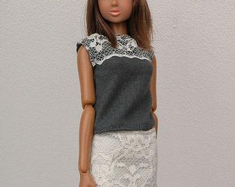 Summer Lace - Handmade dress for Momoko dolls