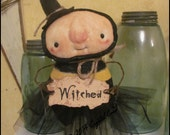 Whimsical Bee Witch BeWitched lowbrow art doll country Primitive Halloween spooky cute home decor HaFAIR