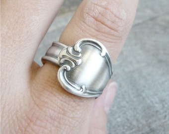 Spoon Ring, Signature Pattern, Choose your Size, Silverware Jewelry