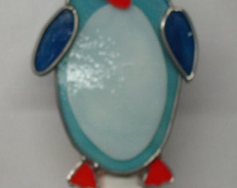 Penguin Night light - Stained Glass Penguin Nightlight -  Night Light for Children